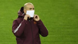 Zinedine Zidane, Real Madrid Manager Tested Positive For Covid-19