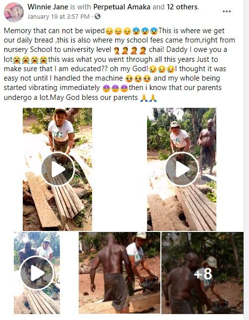 Nigerian Lady celebrates her Sawyer dad for sponsoring her education