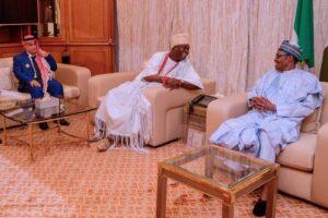 Buhari Receives Ooni of Ife's At Aso Rock