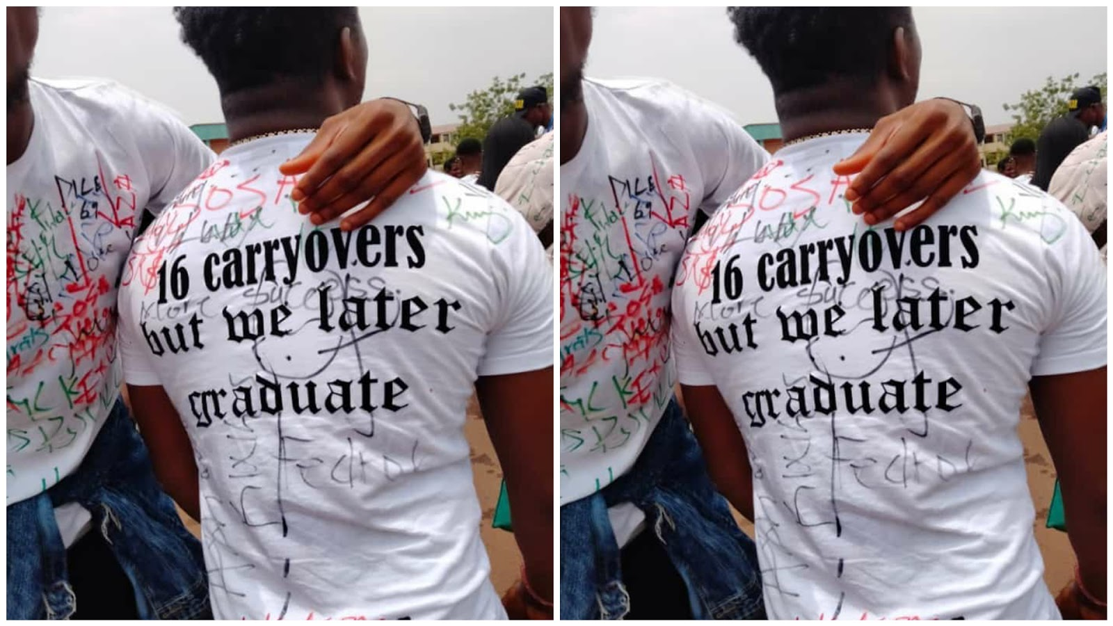 Nigerian Polytechnic graduate rejoices after facing 16 carry-overs