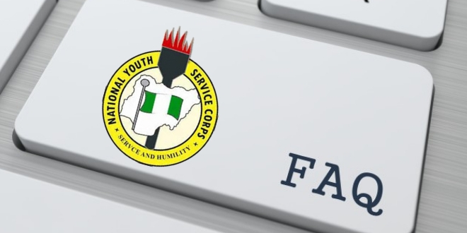 NYSC Online Registration, Frequently Asked Questions FAQs