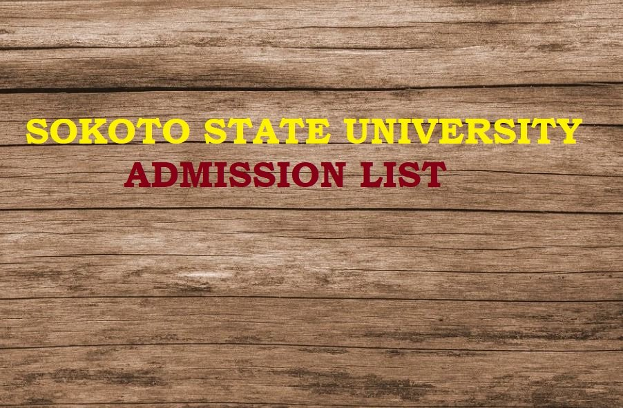 Sokoto State University SSU Admission List 2020/2021 Academic Session Is Out
